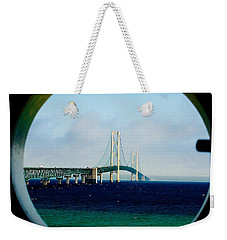 View From The Mackinac Light Weekender Tote Bag