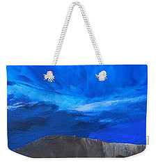 Weekender Tote Bag featuring the painting View From The Ridge by Linda Bailey