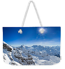 View From Titlis Mountain Towards The South Weekender Tote Bag by Carsten Reisinger