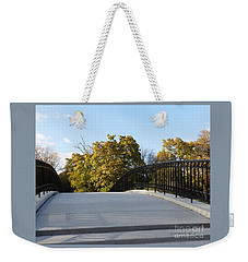 View Of Fall Trees From Footbridge - M Landscapes Fall Collection No. Lf21 Weekender Tote Bag
