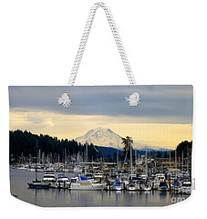 View Of Mt. Rainier From Gig Harbor Wa Weekender Tote Bag