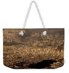 Weekender Tote Bag featuring the photograph View Of Quito From The Teleferiqo by Eleanor Abramson