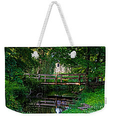 View Of The Grist Mill At Waterloo Village Weekender Tote Bag by Eleanor Abramson
