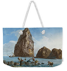 View Of The Rocks On The Third Island Of Cyclops Weekender Tote Bag by Jean-Pierre-Louis-Laurent Houel