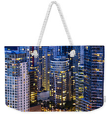 Weekender Tote Bag featuring the photograph View Towards Coal Harbor Vancouver Mdxxvii  by Amyn Nasser
