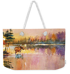 Vigil In The Shallows At Sunrise Weekender Tote Bag