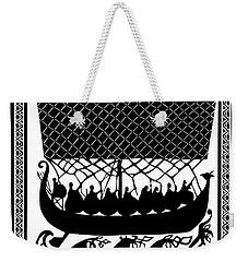 Weekender Tote Bag featuring the digital art Viking Ancient Mariners by Vagabond Folk Art - Virginia Vivier