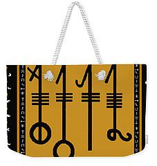 Weekender Tote Bag featuring the digital art Viking Sleepthorn Spell by Vagabond Folk Art - Virginia Vivier