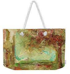 Weekender Tote Bag featuring the painting Villa by Mary Wolf