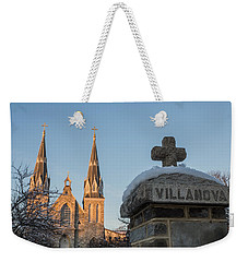 Villanova Wall And Chapel Weekender Tote Bag by Photographic Arts And Design Studio