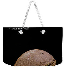 Weekender Tote Bag featuring the photograph Vince Lombardi On Winning by Edward Fielding