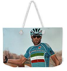 Vincenzo Nibali Painting Weekender Tote Bag