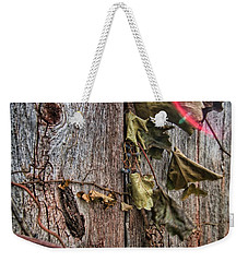 Weekender Tote Bag featuring the photograph Vines And Barns by Daniel Sheldon