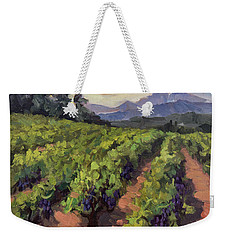 Vineyard At Dentelles Weekender Tote Bag by Diane McClary