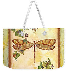 Vineyard Dragonfly Weekender Tote Bag by Jean Plout
