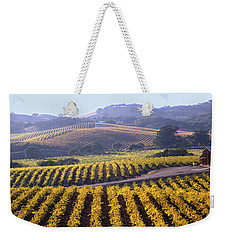 6b6386-vineyard In Autumn Weekender Tote Bag