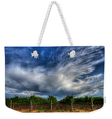 Vineyard Storm Weekender Tote Bag