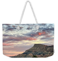 Vineyards And Mt Garfield Weekender Tote Bag by Ronda Kimbrow