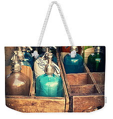 Vintage Antique Seltzer Bottles Weekender Tote Bag