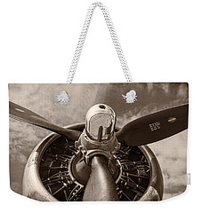 Vintage B-17 Weekender Tote Bag by Adam Romanowicz