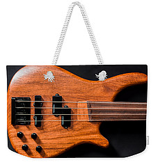 Vintage Bass Guitar Body Weekender Tote Bag