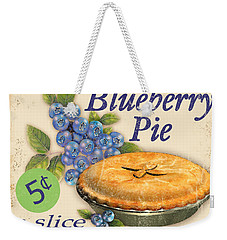 Vintage Blueberry Pie Sign Weekender Tote Bag by Jean Plout