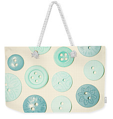 Vintage Blues Button Love Weekender Tote Bag
