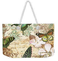 Vintage Butterfly Kisses  Weekender Tote Bag by Jean Plout