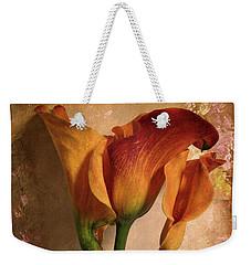 Vintage Calla Lily Weekender Tote Bag