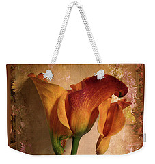Weekender Tote Bag featuring the photograph Vintage Calla Lily by Jessica Jenney