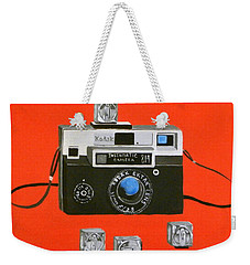Vintage Camera With Flash Cube Weekender Tote Bag