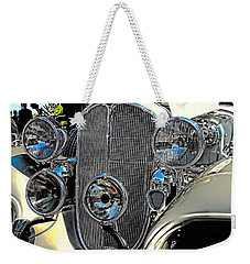 Vintage Car Art Buick Grill And Headlight Hdr Weekender Tote Bag