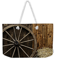 Vintage Carriage Wheel Weekender Tote Bag