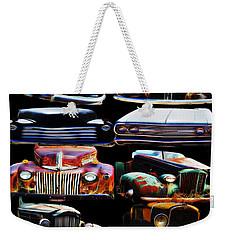 Vintage Cars Collage 2 Weekender Tote Bag by Cathy Anderson
