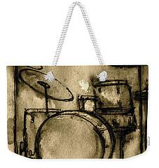 Vintage Drums Weekender Tote Bag
