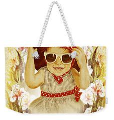 Vintage Fashion Girl Weekender Tote Bag by Irina Sztukowski
