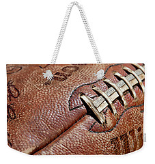 Vintage Football Weekender Tote Bag by Art Block Collections