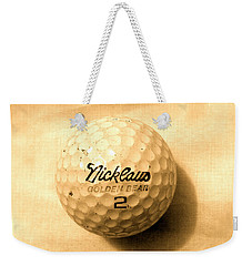 Vintage Golf Ball Weekender Tote Bag by Anita Lewis