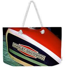 Vintage Harley Davidson Gas Tank Weekender Tote Bag