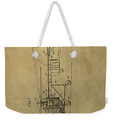 Vintage Helicopter Patent Weekender Tote Bag by Dan Sproul