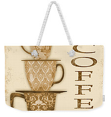 Vintage Hot Coffee Sign Weekender Tote Bag by Jean Plout