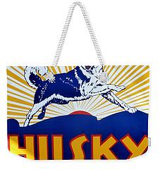 Vintage Husky Sign Weekender Tote Bag by Karyn Robinson