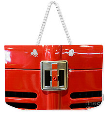 Vintage International Harvester Tractor Badge Weekender Tote Bag