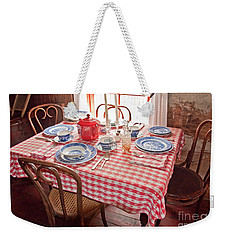 Vintage Kitchen Table Art Prints Weekender Tote Bag