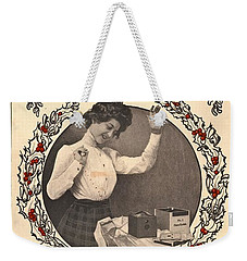 Vintage Kodak Christmas Card Weekender Tote Bag