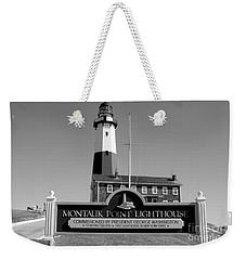 Vintage Looking Montauk Lighthouse Weekender Tote Bag