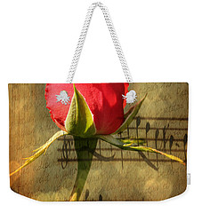 Weekender Tote Bag featuring the photograph Vintage Love Story Symphony by Judy Palkimas