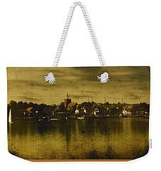 Weekender Tote Bag featuring the digital art Vintage Maldon  by Fine Art By Andrew David