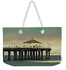 Vintage Manhattan Beach Pier Weekender Tote Bag
