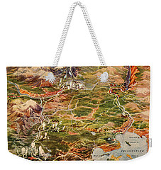 Vintage Map Of Yellowstone National Park Weekender Tote Bag by Edward Fielding